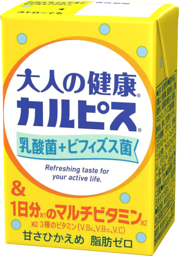 「大人の健康・カルピス」乳酸菌+ビフィズス菌&1日分のマルチビタミン